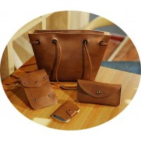 CL409 - Oil skin simple retro Bag