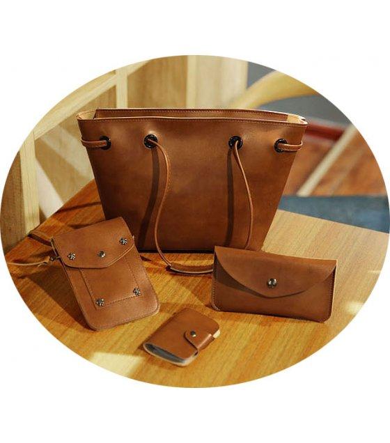 CL409 - Oil skin simple retro Bag
