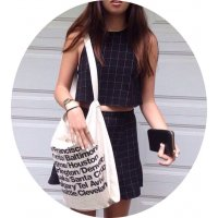 CL472 - Simple Canvas Shoulder Bag