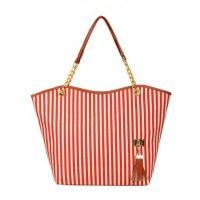 CL493 - Strip tassel casual canvas stripe Bag