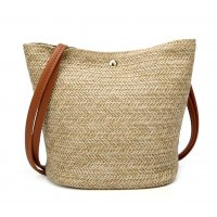 CL520 - Summer Straw Bucket Bag