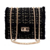 CL528 - Wool Square Fashion Clutch Bag