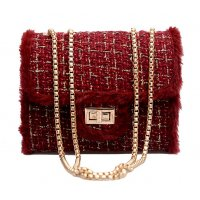 CL529 - Wool Square Fashion Clutch Bag