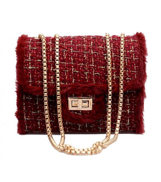 CL529 - Wool Square Fashion Clutch Bag