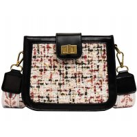 CL535 - Linen Stitched Fashion Shoulder Bag