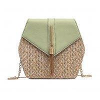 CL537 - Straw Chain Tassel Messenger Bag