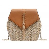CL540 - Straw Chain Tassel Messenger Bag