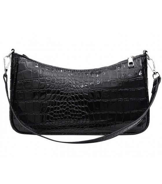 CL542 - Retro Crocodile Pattern Hand Crescent Ladies Bag