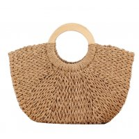 CL575 - Woven straw beach bag