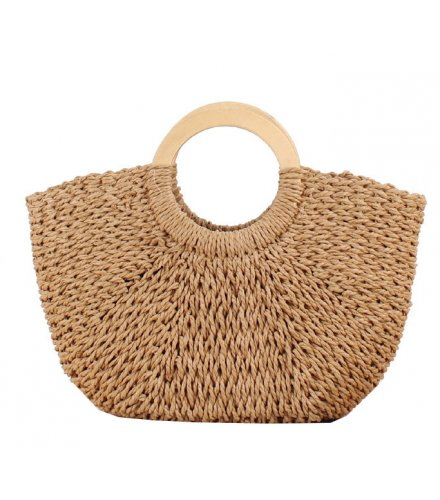 CL575 - Woven straw beach bag