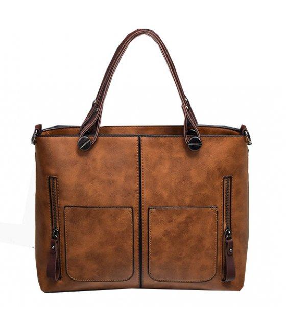CL578 - Stylish double pocket single shoulder handbag