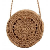 CL583 - Round woven Beach shoulder bag