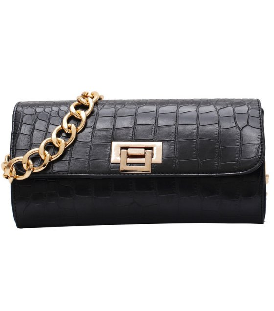 CL601 - Crocodile pattern chain small bag