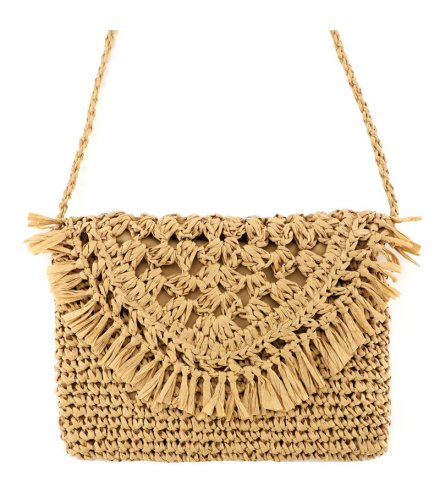 CL621 - Tassel straw woven bag