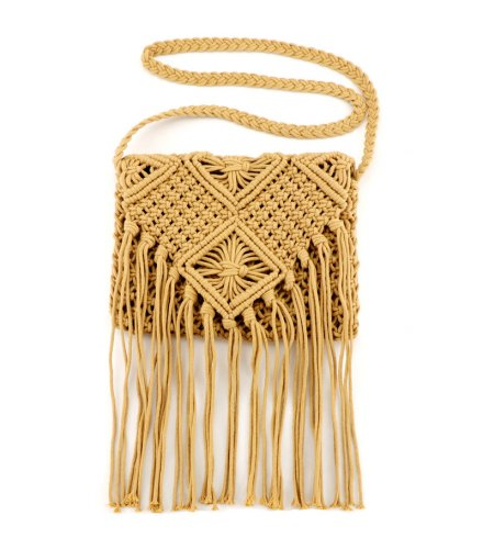 CL622 - Cotton rope tassels hand-woven bag