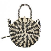 CL623 - Round straw woven bag