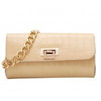 CL648 - Crocodile pattern chain small bag