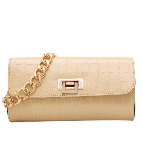 CL648 - Crocodile pattern chain small bag