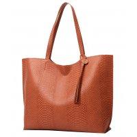 CL670 - Snake Print Tote Bag