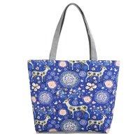 CL724 - Canvas Blue Floral Bag