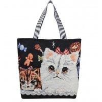CL727 - Stylish Kitty Canvas Bag