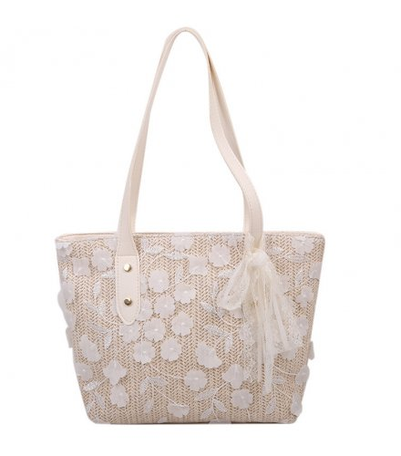 CL805 - Bow lace woven bucket bag
