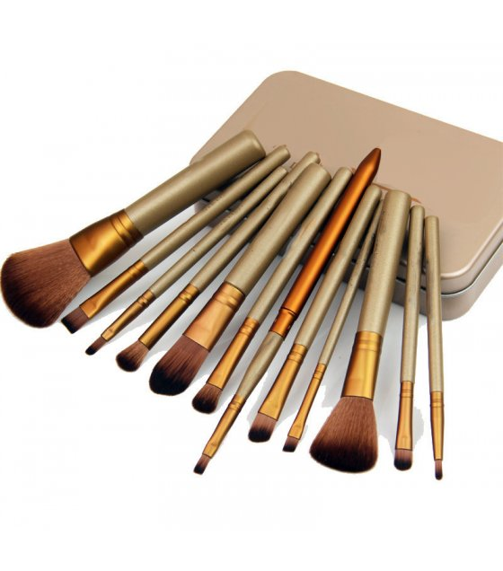 MA099 - Makeup Cosmetic Brush Set 12 pcs