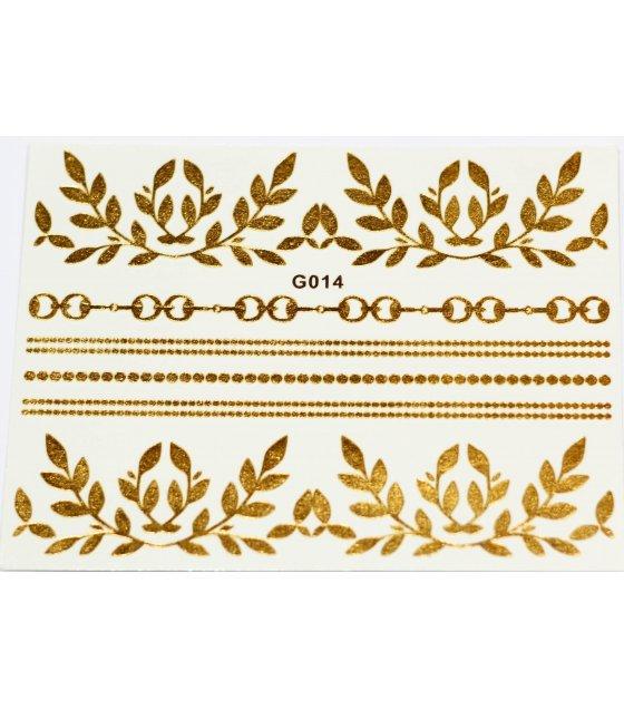 MA131 - Metal tattoo stickers