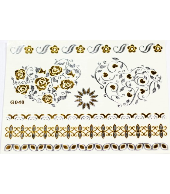 MA134 - Metal tattoo stickers