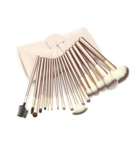 MA167 - 24pcs Champagne + Beige Brush Set