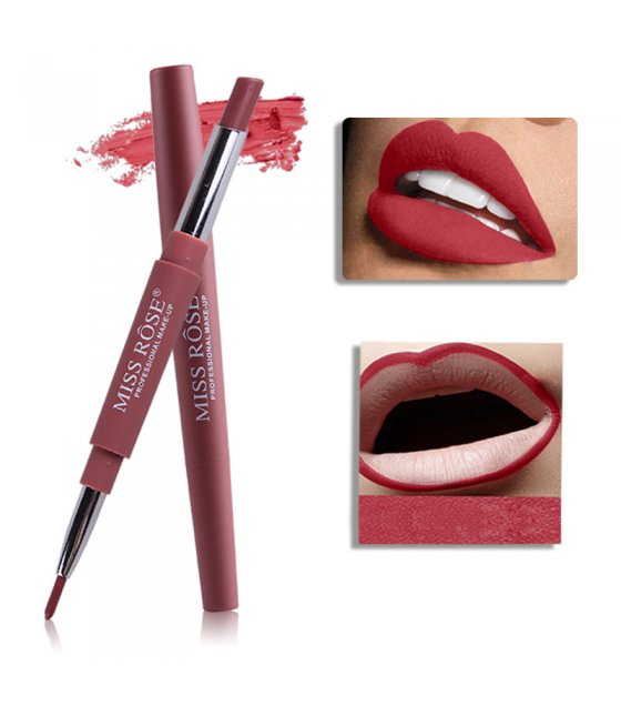 MA288 - MISS ROSE Long Lasting Matte lipstick Lip liner Pencil