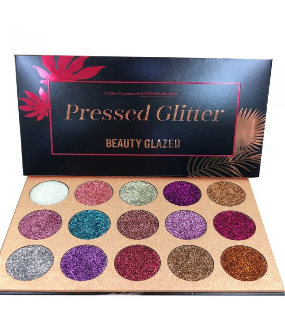 MA294 - BEAUTY GLAZED -15 Color Eyeshadow Pallete