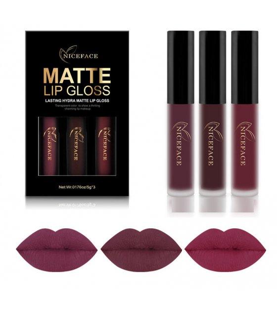 MA297 - NICEFACE Matte Lipstick 3pc Set