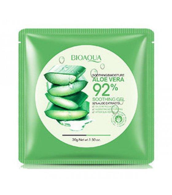 MA334 - Bioaqua Aloe Vera 92% Soothing Moisture Aloe Vera Gel Moisturizer Skin Care Mask