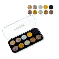 MA389 - Miss Rose 10 Colors Glitter Eyeshadow Palette