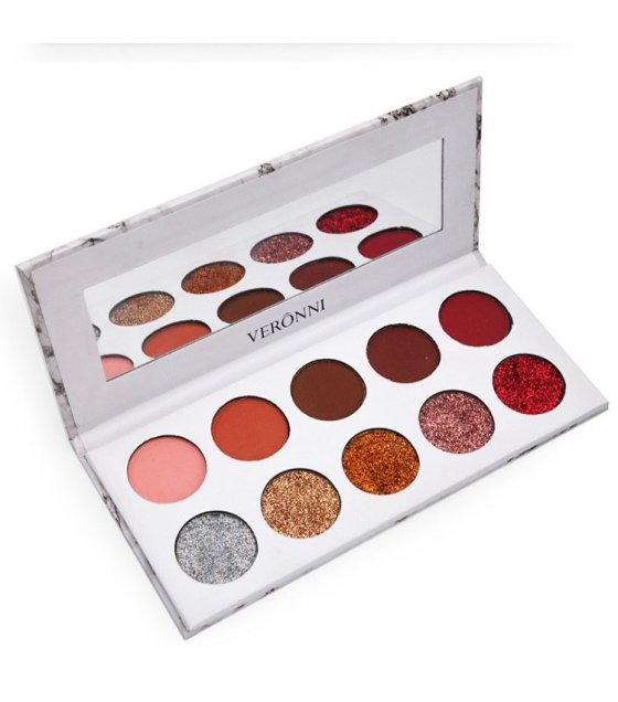 MA403 - 10 Colors Glitter and Matte Shinning Eyeshadow Palette
