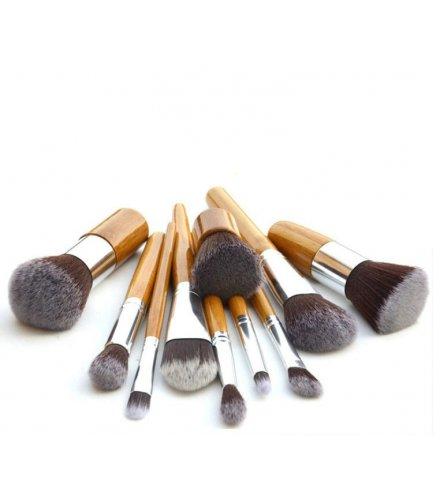 MA432 - 11pcs Makeup Brushes Set with Bamboo Handle