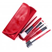 MA464 - O. TWO. O 7pcs Red Make Up Brushes Set