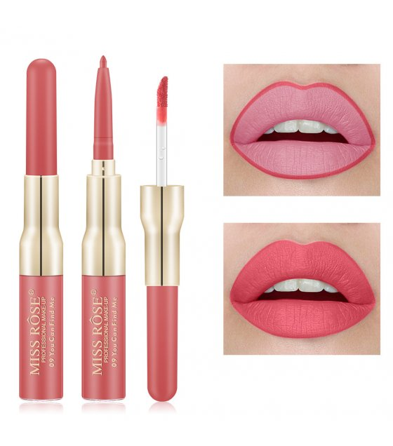MA471 - Miss rose Matte Lipstick + Liner 2 in 1