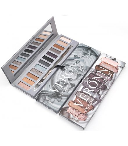 MA477 - 12 Colors Shimmer Matte waterproof Eyeshadow