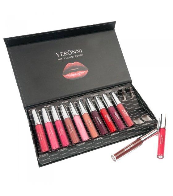 MA488 - VERONNI 12 Color Long Lasting Matte Lipstick