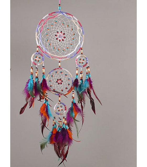 DC044 - Indian style five-ring dream catcher