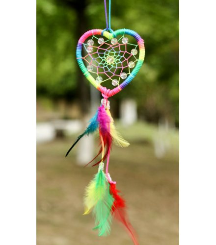 DC048 - Color ribbons love heart-shaped Dream catcher