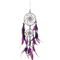 DC055 - Hand-woven two-ring dream catcher