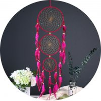 DC066 - Feather three ring Dream Catcher