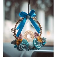 DC071 - Creative wreath car Decoration