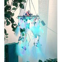 DC083 - Butterfly string lights dream catcher