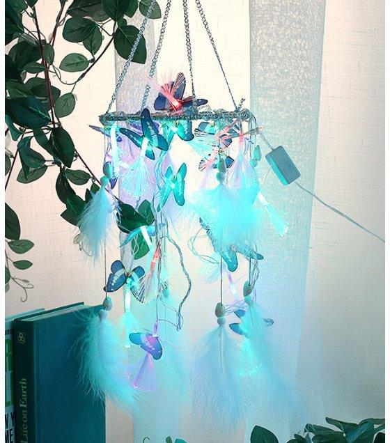 DC083 - Butterfly string lights dream catcher