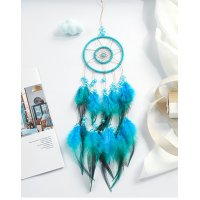 DC084 - Blue feather Indian dream catcher
