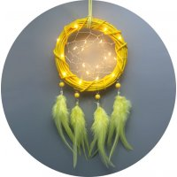 DC094 - Multicolor creative handmade rattan ring dream catcher